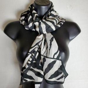 Accessory Street Zebra Print Scarf 66x14